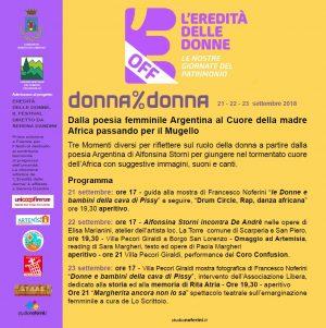 """""""l'eredita' delle donne"""" a borgo s.lorenzo"""
