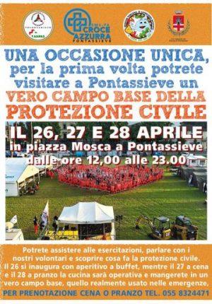 Protezione civile: campo base a pontassieve