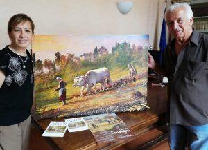 Il pittore g.paladini dona un dipinto