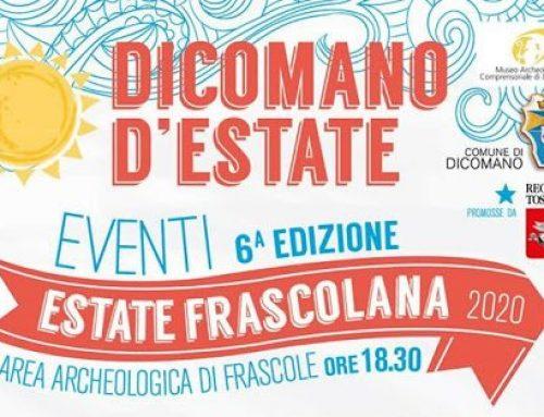 Estate Frascolana: primo appuntamento sabato 4/7 ore 18.30