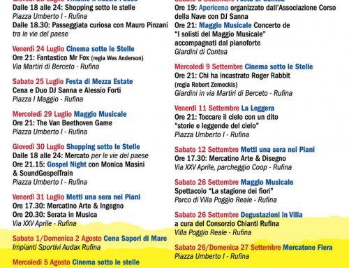 Rufina: pronto il calendario degli eventi estivi