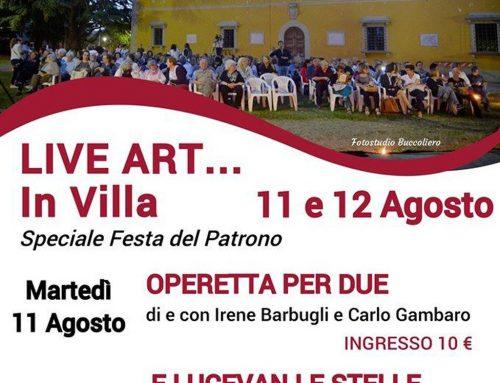 Borgo San Lorenzo: 11 e 12 agosto Live Art in Villa