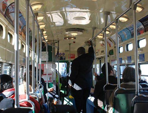 Riduzione al 50% dell'utilizzo della capienza dei bus