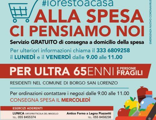"""Borgo San Lorenzo: volontari in campo per la """"Spesa a Domicilio"""""""