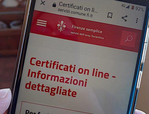 Firenze. Servizi digitali, il certificato ora si fa con lo smartphone