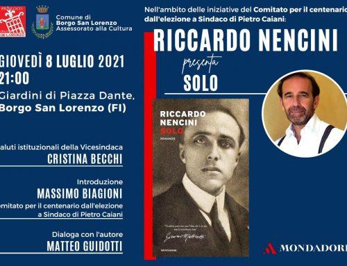 Borgo San Lorenzo: 8/7 presentazione dell'ultimo libro del Senatore Riccardo Nencini