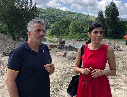 Rufina: l'Assessora Monni in visita alla centrale idroelettrica alla Pescaia Alessandri