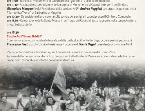 Barberino di Mugello: celebrazioni del 77° anniversario della liberazione