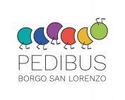 Logo PEDIBUS 2021 BSL colori sfondo BIANCO
